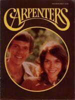 CARPENTERS 1976 A KIND OF HUSH TOUR CONCERT PROGRAM BOOK BOOKLET / EX 2 NMT