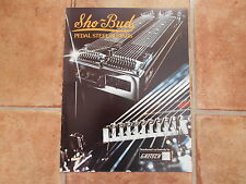 SHO-bud pedale in acciaio chitarre catalogo.