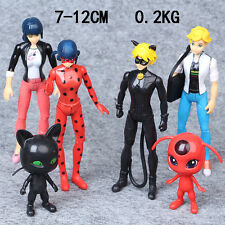 6pcs/lot Miraculous Ladybug Doll Adrien Noir Cat Action Figures Kids Toys Gift