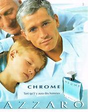 PUBLICITE ADVERTISING 075  2001  CHROME  eau de toilette homme AZZARO