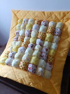 Handmade bubble biscuit patchwork nursery quilt or playmat - 5 pretty colours