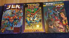3 X Jla Titan Books Graphic Novels