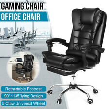 More details for luxury executive computer office desk gaming chair swivel recliner w/ footrest
