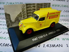 1/43 IXO Altaya Véhicules d'époque ITALIE : FIAT 1100 ELR Pirelli assistance 52