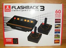 Atari Flashback 3 Classic Game Console Game 60 Built Black Plug Play TV *IN BOX*