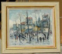 Vintage MCM oil/canvas by Gerard b.1930 Dutch artist, 20 x 24