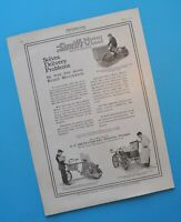 Antique 1916 Smith Motor Wheel Indian Harley Bicycle Motorcycle Brochure  Ad