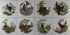 Dekor Fliesen 15x15 Jagdmotiv; Jagd,Hase,Gemse,Fuchs,Wildente,Fasan,Reh,Hirsch