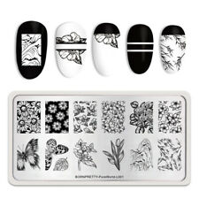 BORN PRETTY Stamping Plate Rectangle Nail Art Printing Tool Pure World L001