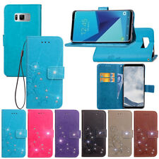 SD FourLeaf Bling-A Strap Leather Wallet Card Case Cover For MOTO Xiaomi Alcatel