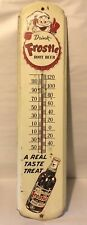 "Vintage 1950s ""Drink Frostie Root Beer"" Large Metal Soda Advertising Thermometer"