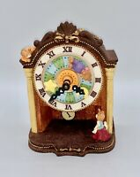 "Wooden Clock-Like Music Box With Bears Plays ""As Time Goes By"""