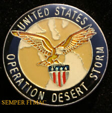 OPERATION DESERT STORM LAPEL HAT PIN UP US ARMY MARINES NAVY AIR FORCE VET GIFT
