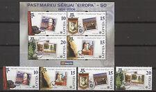 50 ans de l'Europe des marques, CEPT-Lettonie, Latvija - 652-655, bl.21 ** Neuf sans charnière 2006
