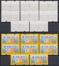 Bund ATM 4.1 RS 1 ** 2002 Postemblem Restwertesatz 8 Werte kpl. mit Zählnummern