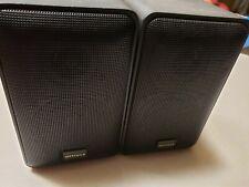 Pair of Optimus  30w Black Mini Bookshelf Speakers 8 OHMS