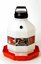 Miller Poultry Fountain Waterer White Red 5 Gallon - Ppf-5