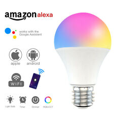 Wifi Smart LED light Bulb 15W RGB+CCT Dimmable Light for Alexa/Google Home 15W x