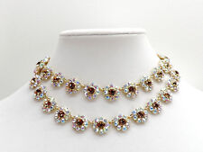 Kate Spade New York Crystal Trellis Short Necklace Goldtone Crystals New!