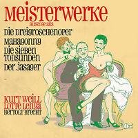 CD Meisterwerke Dreigroschenoper, Mahagonny von Bertolt Brecht, Kurt Weill   2CD