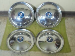 "1954 Hudson HUB CAPS 15""  Set of 4 Wheel Covers 54 Hubcaps"