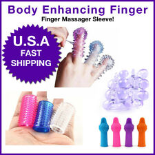Crystal Special Soft Silicone Spike Ball Finger Condom Sleeve Stimulator Tool