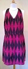 NEXT UK 18/eur 46 Black/pink Halter Neck Holiday Dress