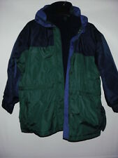 Columbia Forest Green Navy Blue With Detachable Liner Women's Jacket M
