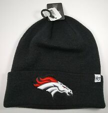 '47 Brand Denver Broncos Black Raised On Field Knit Cuffed Winter Beanie Hat