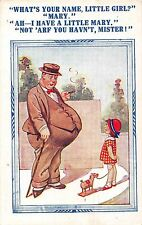 POSTCARD  COMIC   Fat  Man     Little   Mary......