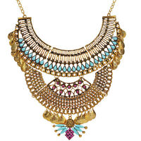 Halloween For Egyptian Queen Nile Cleopatra Costume Necklace Collar  Gold Women