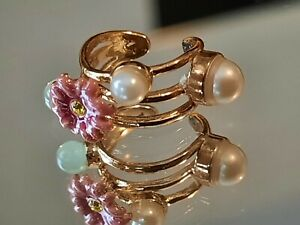 Les Nereides Ear Cuff 14ct Gold Plated  Rrp £49 New