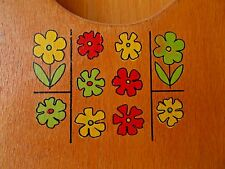 Vintage-Retro Nevco Wooden Flower Design Receipe Book Box Made in Japan!