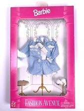 NIB BARBIE DOLL 1995 FASHION AVENUE 14288 BLUE GINGHAM LINGERIE