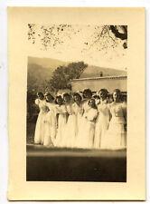 Mariage mariée femmes demoiselles d'honneur - photo ancienne an. 1930 40