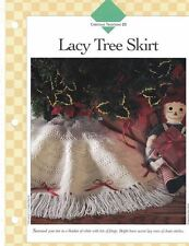 Lacy Tree Skirt with lots of Fringe Crochet Single Pattern Vanna White