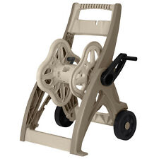 New listing Taupe Plastic Compact 175-ft Storage Cart Garden Hose Reel with Fold Down Handle