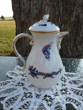 MEISSEN Germany MING DRAGON BLUE - Red Dot Accent 5 Cup COFFEE POT #321910 Rare!