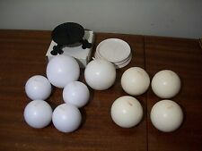 Lot of 10 white off white round sphere candles 2 holders different sizes