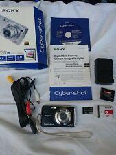 Sony Cyber-Shot DSC-W230 12.1MP Digital Camera-Black- + 8GB Card 2 batteries!