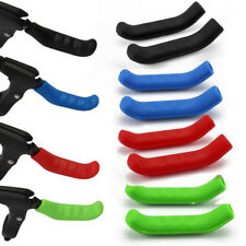 1 PAIR of COLOURED BRAKE LEVER GRIPS PROTECTORS COVERS MOUNTAIN BIKE MTB BMX