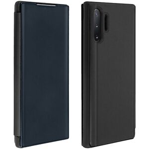 Flip Case, Mirror Case for Samsung Galaxy Note 10 Plus, Standing Cover – Black