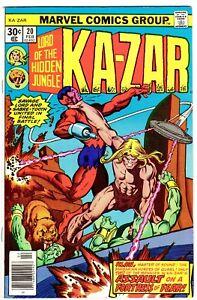 KA-ZAR #20   KLAW Story!  Gil Kane Cover!  BLACK PANTHER Movie!   F- (5.5)  1977