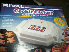 NIB VINYAGE USA RIVAL COOKIE FACTORY AND SNACK MAKER NO OVEN NEEDED EASY FUN