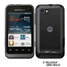 5 Pellicola per Motorola Defy Mini XT320 Protettiva Pellicole SCHERMO DISPLAY