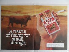 1991 Print Ad Bull Durham Cigarettes ~ Fistful Flavor Small Change