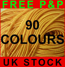 ORIGINAL CZECH SOUTACHE RUSSIA BRAID HUGE PACKAGE 90 COLOURS 1METER EACH