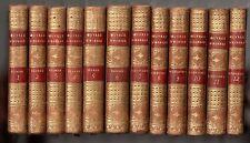 HOMER ILIAD + ODYSSEY 12 vol. hardback full calf 1796 BITAUBE MENTELLE HOMERUS