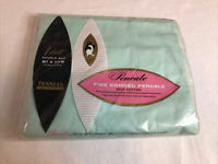 VINTAGE PENNY'S PENCALE PERCALE Green. Double Bed 81x108 - NIP