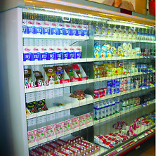 More details for dairy chiller cabinet pvc curtains blinds 3.75m width 1.7m drop clear strip